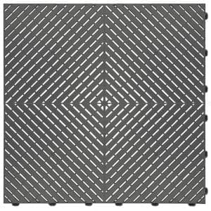 15.75 in. x 15.75 in. Grey Ribtrax Smooth ECO Flooring (6-Tile/pack) (10 sq. ft.)