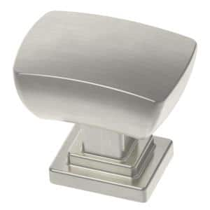 Wrapped Square 1-3/16 in. (30mm) Satin Nickel Cabinet Knob