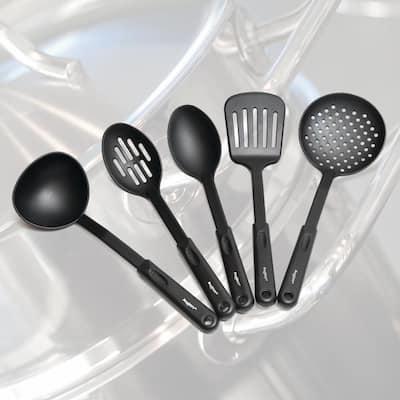 Essentials Hotel 12-Piece Stainless Steel Cookware Set with Serving Utensils