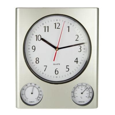 12.5 in. Clock, Thermometer and Hygrometer