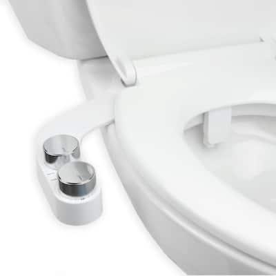 FreshSpa Comfort+ Non-electric Dual Temperature Bidet Attachment in White