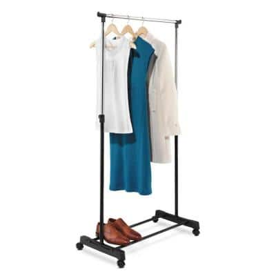 Chrome Steel Clothes Rack 33.11 in. W x 65.75 in. H