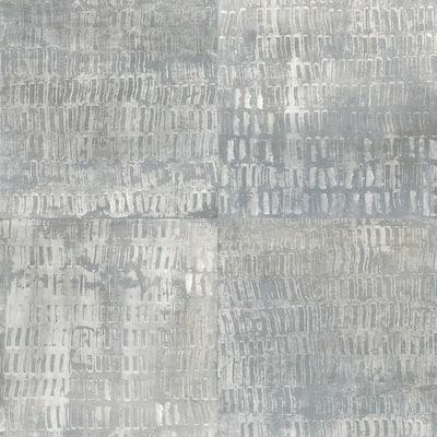 Conundrum Blue Faux Metal Blue Wallpaper Sample
