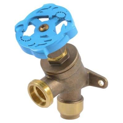 1/2 in. Push-to-Connect x 3/4 in. MHT Brass Garden Valve with Drop Ear