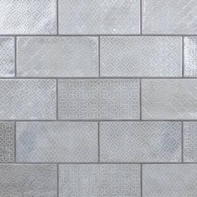 Camden Decor Grey 4 in. x 8 in. Ceramic Wall Tile (11.9 sq. ft./Case)
