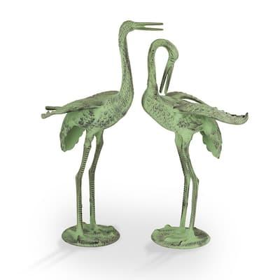 Exalted Crane Pair Garden Statue