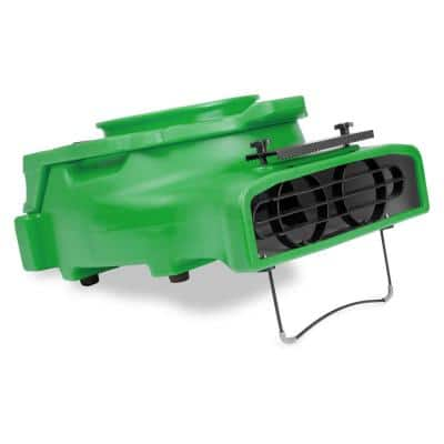 1/4 HP Low Profile Air Mover for Water Damage Restoration Carpet Dryer Floor Blower Fan in Green