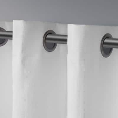 Winter White Woven Thermal Blackout Curtain - 54 in. W x 108 in. L (Set of 2)