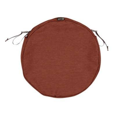 Montlake Fade Safe Heather Henna 15 in. Round Outdoor Seat Cushion Cover