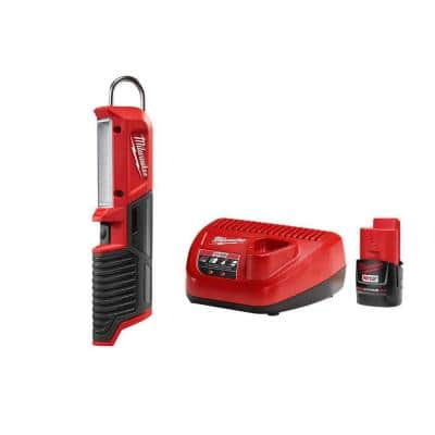 M12 12-Volt Lithium-Ion Cordless 220 Lumens LED Stick Light with (1) 2.0 Ah Battery and Charger