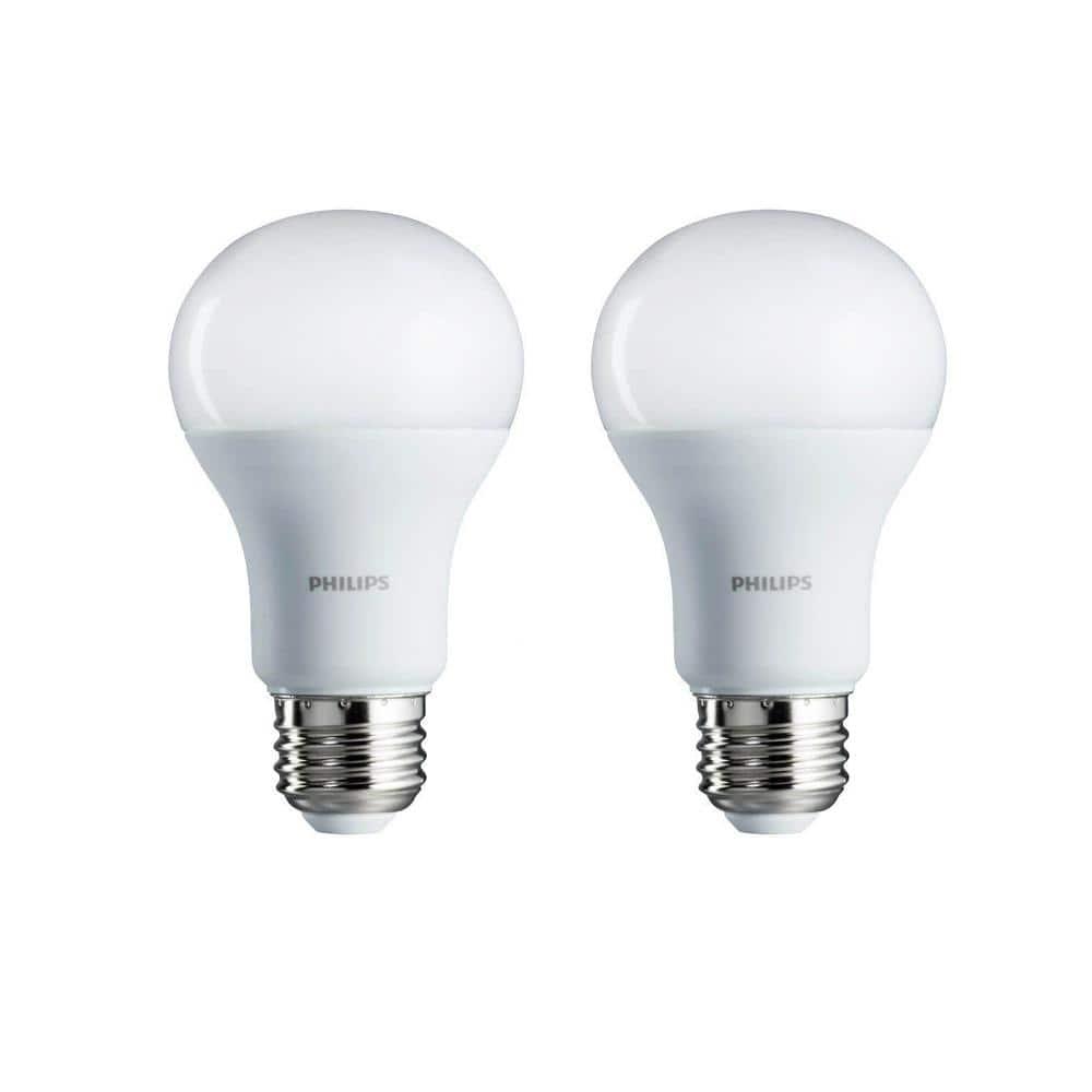 100-Watt Equivalent A19 Non-Dimmable Energy Saving LED Light Bulb Soft White (2700K) (2-Pack)