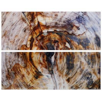 """""""Impact"""" Abstract Wall Art Printed on Frameless Free Floating Tempered Glass Panel"""