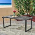 Nestor Sandblast Dark Gray Rectangular Wood Outdoor Dining Table