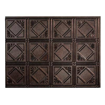 18 in. x 24 in. Traditional # 4 Vinyl Backsplash Panel in Smoked Pewter (Pack of 5)