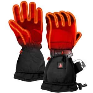 Men's Large Black 5-Volt Battery Heated Snow Gloves