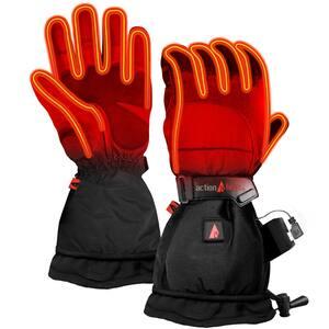 Men's Medium Black 5V Battery Heated Snow Gloves