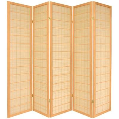 6 ft. Natural 5-Panel Room Divider