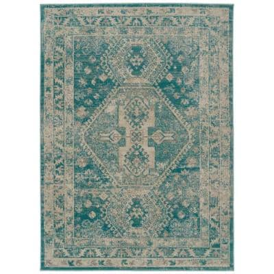 Kaleen Zuma Beach Collection Turquoise 2 Ft 2 In X 7 Ft 6 In Runner Rug Zum10 78 2276 The Home Depot