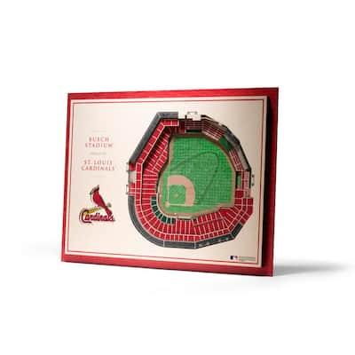 MLB St. Louis Cardinals 5-Layer Stadiumviews 3D Wooden Wall Art