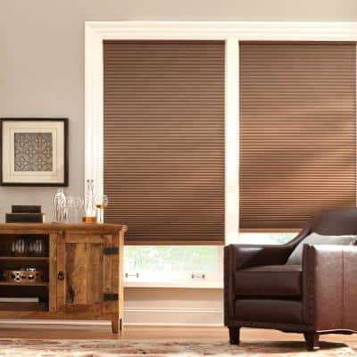 Mocha Cordless Blackout Cellular Shade  - 35 in. W x 64 in. L