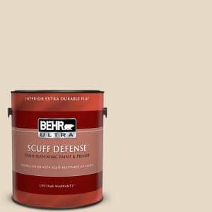 Behr Ultra 1 Gal S190 2 Sand Dance Extra Durable Flat Interior Paint Primer 172001 The Home Depot