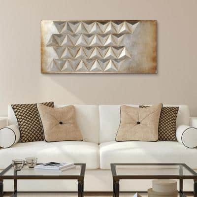 """""""Steel 2"""" Mixed Media Iron Hand Painted Dimensional Wall Art"""