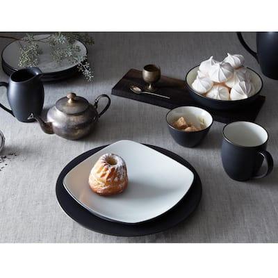 Colorwave Graphite Black  Stoneware Coupe Dinner Plate 10-1/2 in.