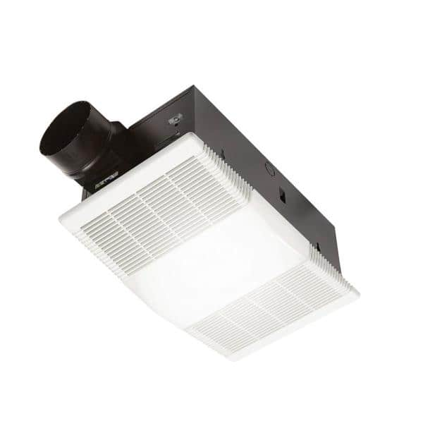 Broan Nutone 80 Cfm Ceiling Bathroom Exhaust Fan With Light And 1300 Watt Heater 765h80l The Home Depot