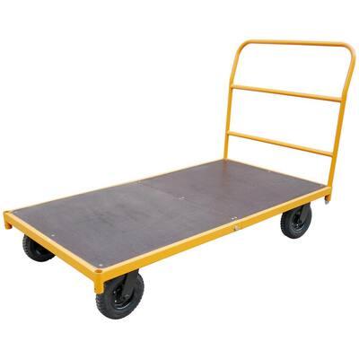 Pro Series 750 Lbs 5 Ft Steel Platform Utility Cart 805468 The Home Depot