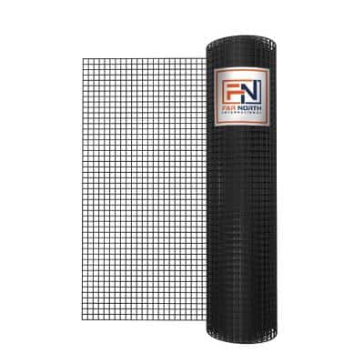 4 ft. x 50 ft. 16-Gauge Black PVC-Coated Welded Wire with 1 in. x 1 in. Mesh Size