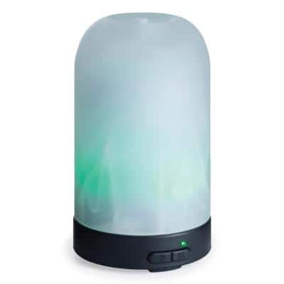 9.3 in Frosted Glass Ultrasonic Essential Oil Diffuser