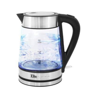 Platinum 1.7 l Stainless Steel Cordless Glass Electric Kettle