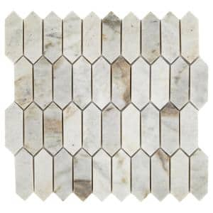 Restore Coastal Polished 11 in. x 11 in. x 8mm Marble Mosaic Floor and Wall Tile (0.9 sq. ft./ piece)