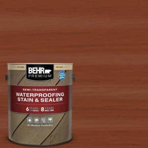 1 gal. #ST-142 Cappuccino Semi-Transparent Waterproofing Exterior Wood Stain and Sealer