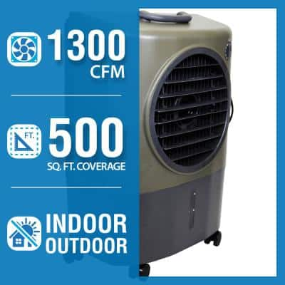 1,300 CFM 2-Speed Portable Evaporative Cooler (Swamp Cooler) for 500 sq. ft. in Green