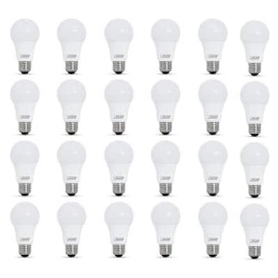 60-Watt Equivalent A19 Dimmable LED ENERGY STAR 90 Plus CRI Light Bulb in Bright White (24-Pack)