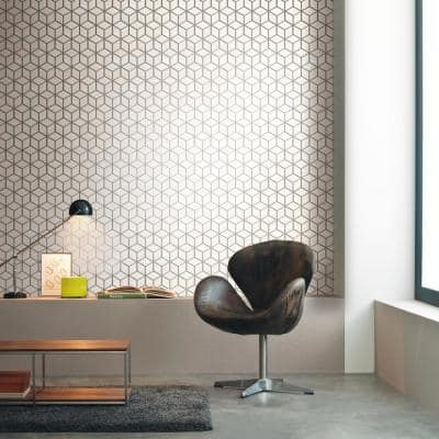 Classic Impressions Onyx Diamond 10.47 in. x 12 in. x 6mm Matte Glazed Porcelain Mesh-Mounted Mosaic Tile