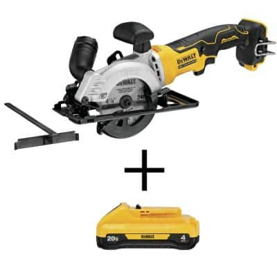 ATOMIC 20-Volt MAX Cordless Brushless 4-1/2 in. Circular Saw with (1) 20-Volt Battery 4.0Ah