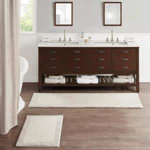 Splendor Taupe 24 in. x 72 in. 100% Cotton Tufted 3000 GSM Reversible Bath Rug