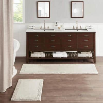 Splendor Taupe 21 in. x 34 in. 100% Cotton Tufted 3000 GSM Reversible Bath Rug