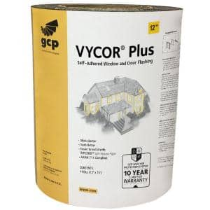 Vycor Plus 12 in. x 75 ft. Roll Fully-Adhered Flashing Tape (75 sq. ft.)
