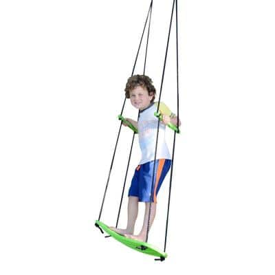 Kick Green Stand Up Swing with Rope