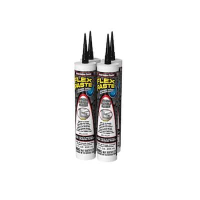 Flex Paste 9 fl. oz. Black All-Purpose Strong Watertight Sealant (4-Pack)