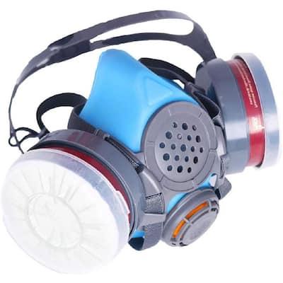 Half Face Reusable Respirator and Organic Vapor Gas Mask