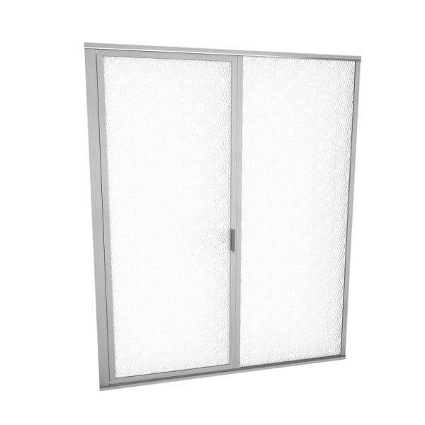Redi Swing 1100 Series 59 In W X 72 1 8 In H Framed Swing Shower Door In Brushed Nickel With Pull Handle And Obscure Glass 11robfp05972 The Home Depot