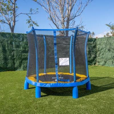 Trujump 7 ft. Dia. My First Trampoline with Enclosure