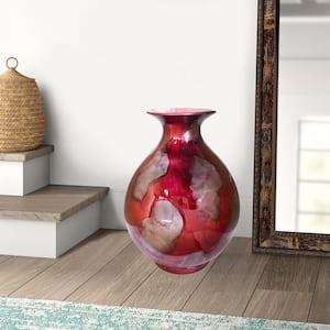 Shelly Red Ceramic Decorative Vase