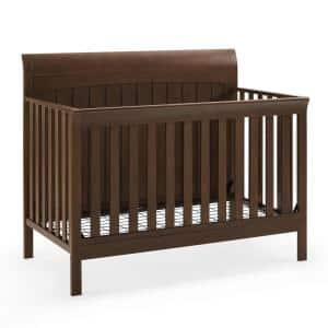 Kace 5-in-1 Timber Convertible Sleigh Crib