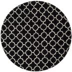 Chatham Black/Ivory 7 ft. x 7 ft. Round Area Rug