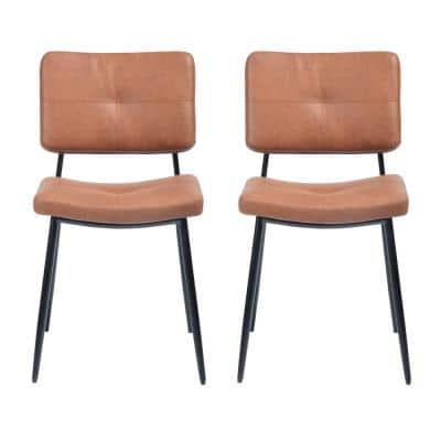 16.7 in. Dinning Chairs Brown High Leisure Chairs (2-Pieces)